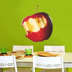STICKER POMME CROQUEE (A0065)