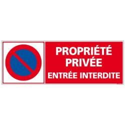 PANNEAU PROPRIETE PRIVEE ENTREE INTERDITE AU FORMAT 210X75MM
