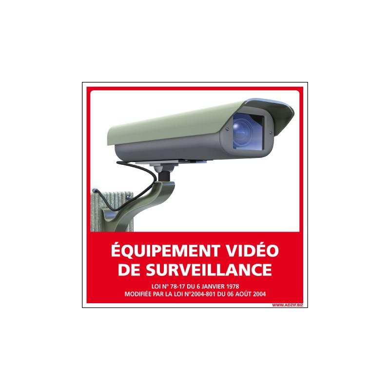 PANNEAU EQUIPEMENT VIDEO DE SURVEILLANCE AU FORMAT 250X250MM