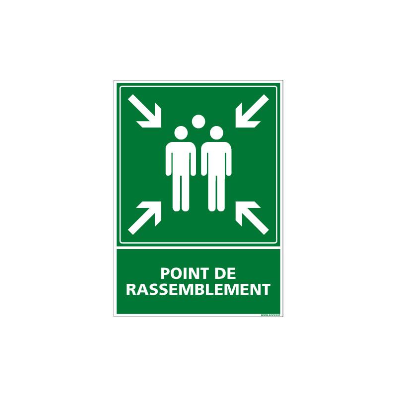 PANNEAU POINT DE RASSEMBLEMENT AU FORMAT 150X210MM