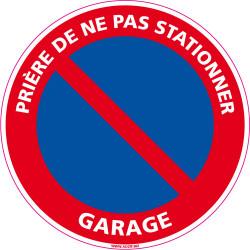 PANNEAU PRIERE DE NE PAS STATIONNER - GARAGE