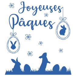 Stickers Lapins de Paques (PAQUES001)