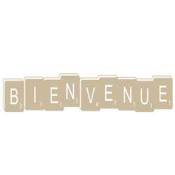 STICKERS JEU DE LETTRES BIENVENUE (F0051)