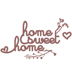 STICKERS HOME SWEET HOME (I0109)