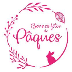 STICKER BONNES FETES DE PAQUES (PAQUES002)