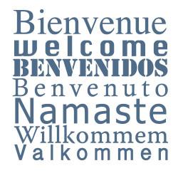 STICKER BIENVENUE multilingue (O0061)