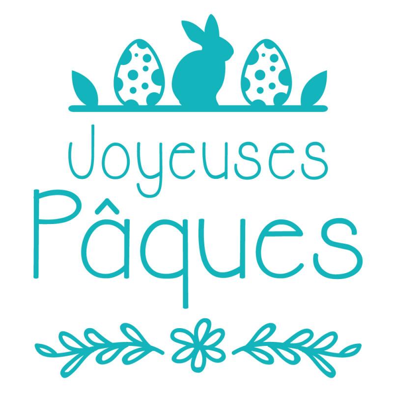 STICKER TEXTE JOYEUSE PAQUES (PAQUES009)