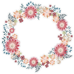 STICKER COURONNE DECORATIVE MARGUERITE (TRANS_007)