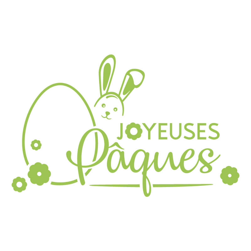 STICKER VITRINE JOYEUSES PAQUES (PAQUES012)