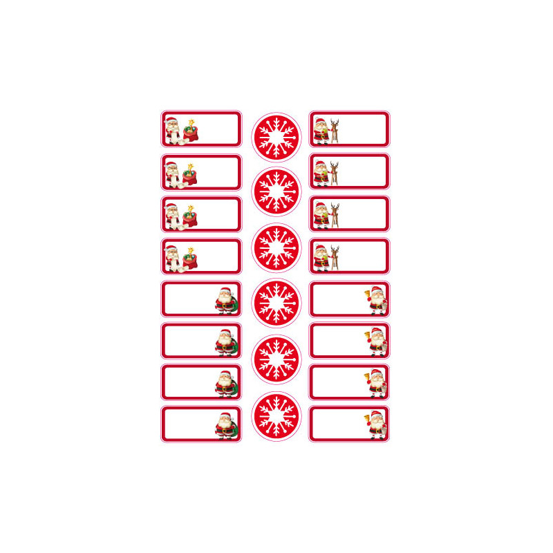 PLANCHE 16 ETIQUETTES PERE NOEL (PLNOEL1)