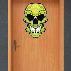 "STICKER DE ""GREEN SKULL"" POUR HALLOWEEN (T0109)"