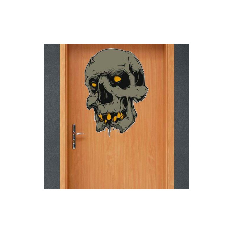 "STICKER DE ""SLIM SKULL"" POUR HALLOWEEN (T0112)"