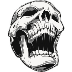 "STICKER DE ""WHITE SKULL"" HALLOWEEN (T0113)"