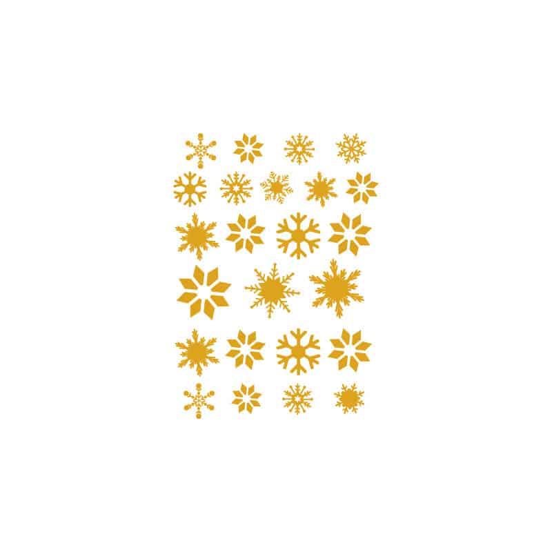 STICKERS NOEL : PLANCHE DE 24 FLOCONS (T0155)