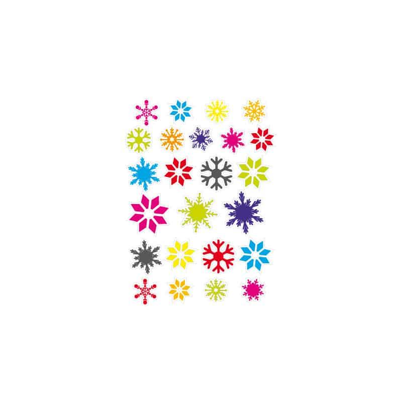 STICKERS DE NOEL : 24 FLOCONS (T0163)