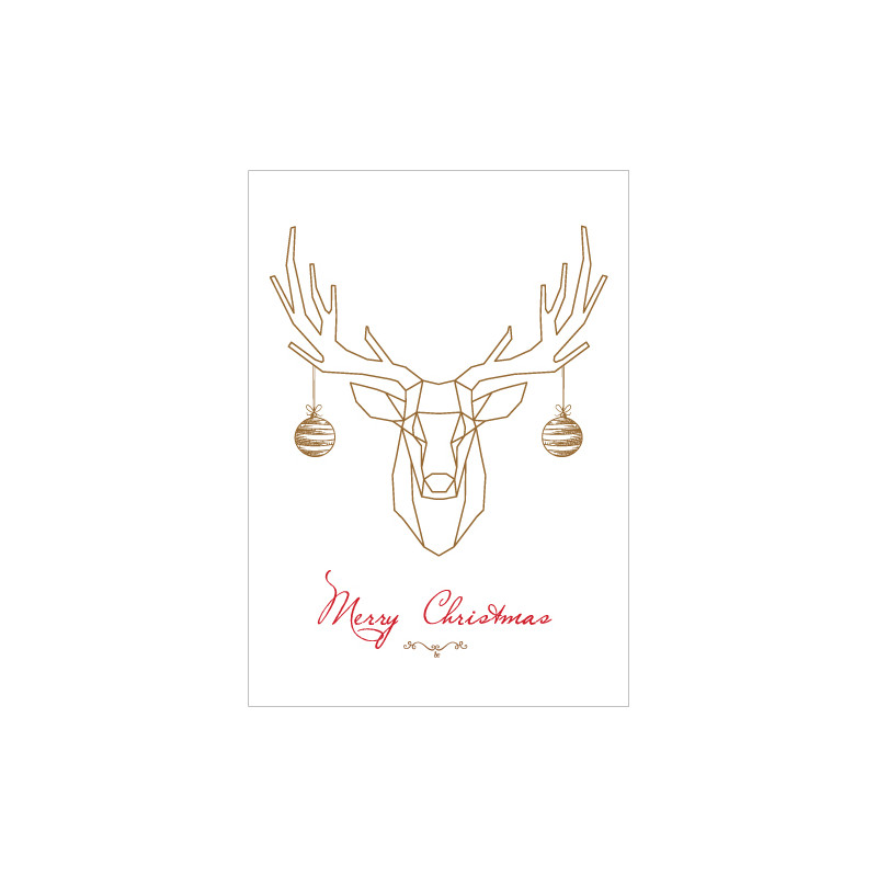 STICKERS CERF MERRY CHRISTMAS (T0174)