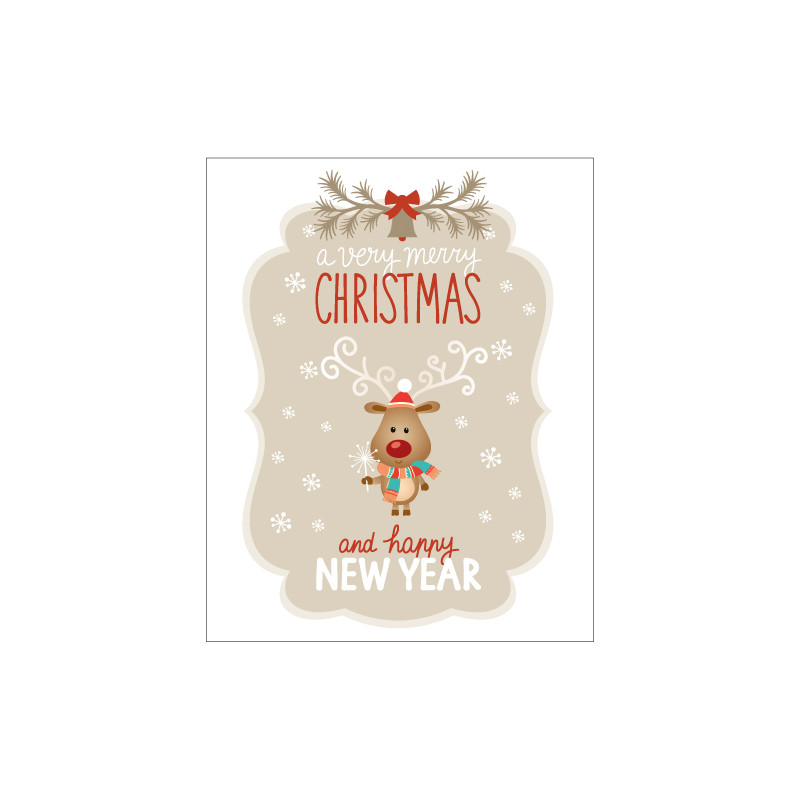STICKER CHRISTMAS AND HAPPY NEW YEAR (T0176)