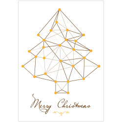 STICKER SAPIN MERRY CHRISTMAS (T0178)