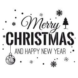 STICKER VITRINE MERRY CHRISTMAS (T0192)