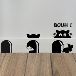 STICKER DE PLINTHE EN DECOUPE SCARY CAT (PLINTHE_007)