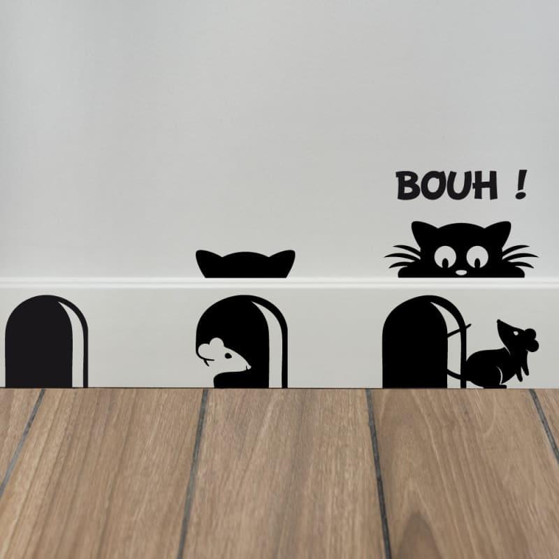 STICKER DE PLINTHE EN DECOUPE SCARY CAT (PLINTHE_007)