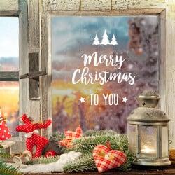 STICKER DE NOEL MERRY CHRISTMAS TO YOU (T0195)