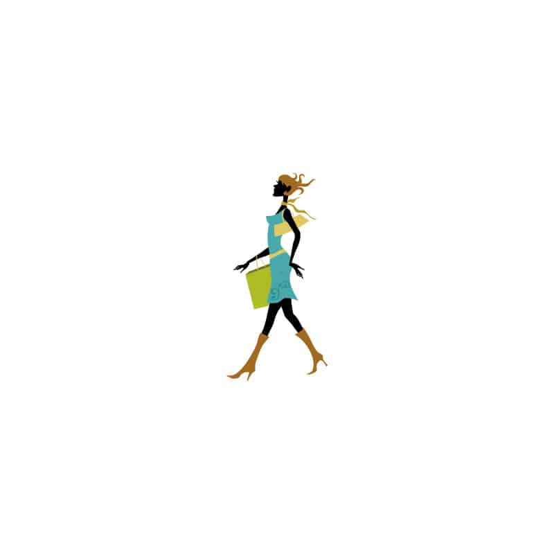 STICKERS SILHOUETTE FEMME (D0051)