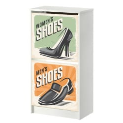 STICKERS VINTAGE SHOES MEUBLE BISSA IKEA 2 CASIERS MIBISSA003