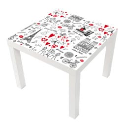 STICKER PARIS TABLE LACK IKEA MILACK002