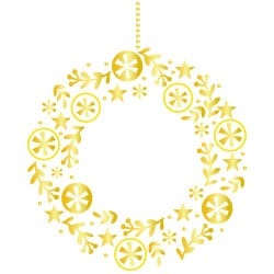 STICKER COURONNE SCANDI NOEL (T0202)