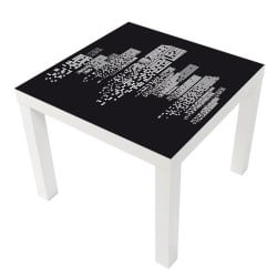 STICKER BUILDINGS TABLE LACK IKEA MILACK006