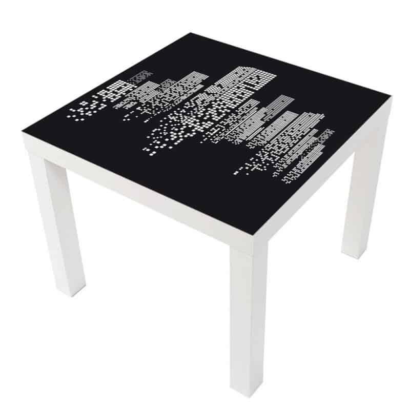 STICKER BUILDINGS TABLE LACK IKEA MILACK006