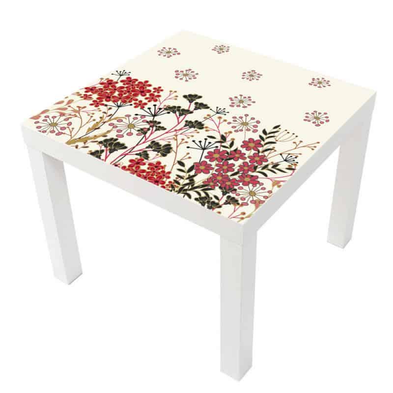 STICKER FLEURS TABLE LACK IKEA MILACK009