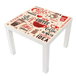 STICKER COFFEE TIME TABLE LACK IKEA MILACK011
