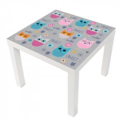 STICKER CHOUETTES TABLE LACK IKEA MILACK012