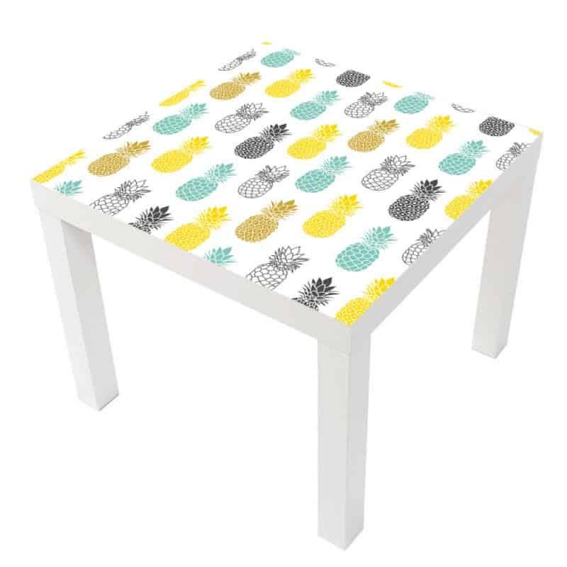 Sticker Ananas Table Lack Ikea Milack013