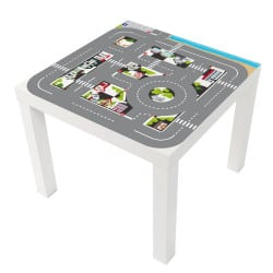 STICKER CITY POUR LES TABLES LACK IKEA MILACK015
