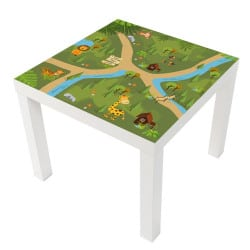 STICKER SAFARI POUR LES TABLES LACK IKEA MILACK018