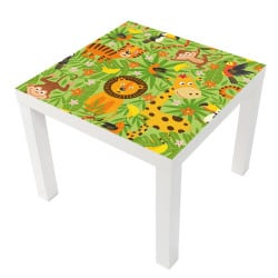 STICKER JUNGLE CRAZY POUR LES TABLES LACK IKEA MILACK020