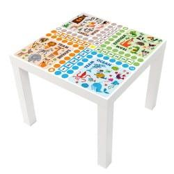 STICKER JEUX DE DADA TABLE IKEA MILACK023
