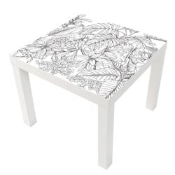 STICKER PENCIL LEAVES TABLE IKEA MILACK028