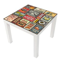 STICKER VINTAGE TABLE IKEA MILACK030