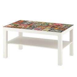 STICKER VINTAGE TABLE IKEA MILACK030