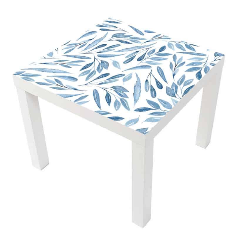 STICKER AQUARELLE BLEUE POUR TABLE LACK IKEA MILACK033
