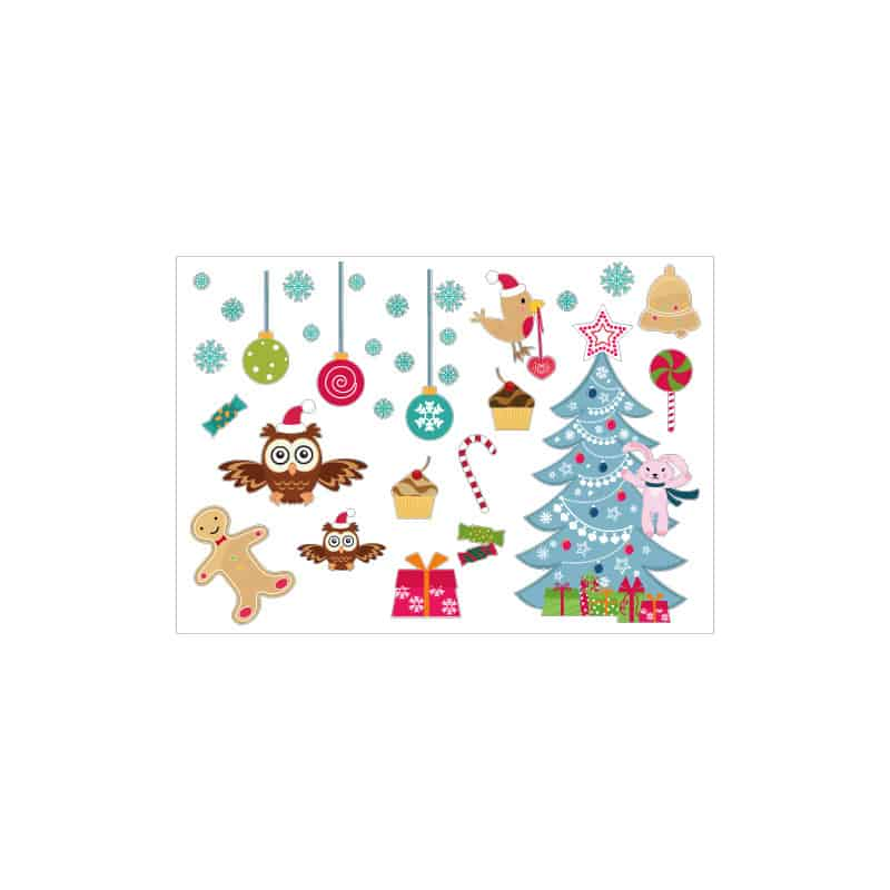 PLANCHE DECORATIVE SPECIAL NOEL (T0208)