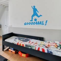Stickers Silouhette Football Goaaaalll (FOOT01)