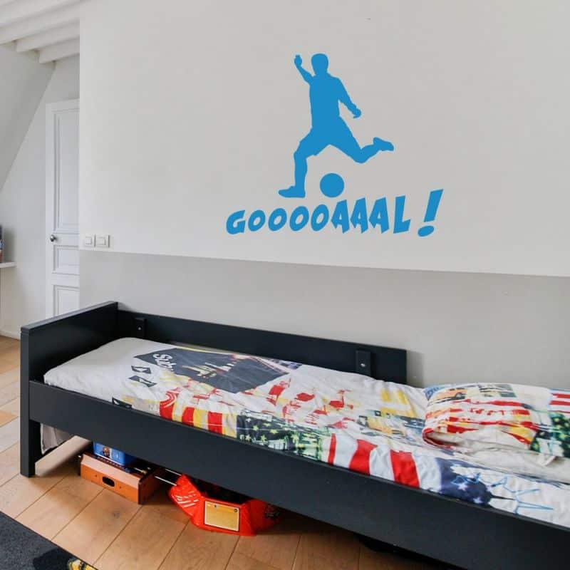 Stickers Silouhette Football Goaaaalll (FOOT01)
