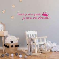 STICKER CITATION PRINCESSE (I0155)