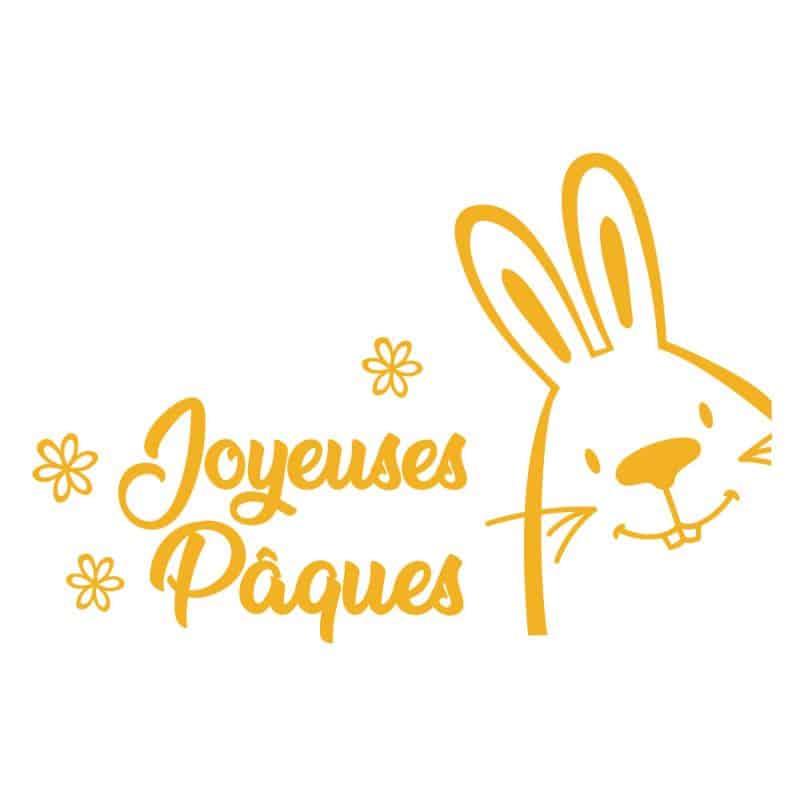 STICKER POUR VITRINE JOYEUSE PAQUES (PAQUES010)