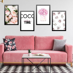 LOT DE 4 POSTERS DECORATIFS...